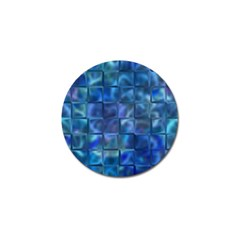Blue Squares Tiles Golf Ball Marker 10 Pack by KirstenStar