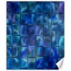 Blue Squares Tiles Canvas 20  X 24  (unframed) by KirstenStar