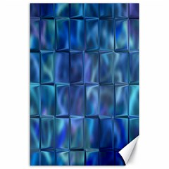 Blue Squares Tiles Canvas 24  X 36  (unframed) by KirstenStar