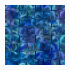 Blue Squares Tiles Glasses Cloth (medium) by KirstenStar