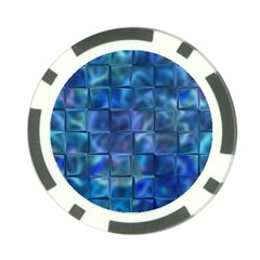 Blue Squares Tiles Poker Chip by KirstenStar