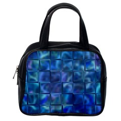 Blue Squares Tiles Classic Handbag (one Side) by KirstenStar