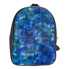 Blue Squares Tiles School Bag (large) by KirstenStar