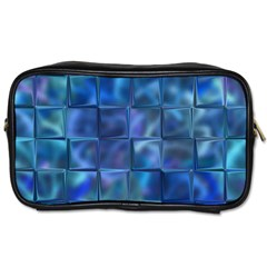 Blue Squares Tiles Travel Toiletry Bag (two Sides) by KirstenStar