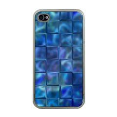 Blue Squares Tiles Apple Iphone 4 Case (clear) by KirstenStar
