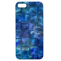 Blue Squares Tiles Apple Iphone 5 Hardshell Case With Stand by KirstenStar