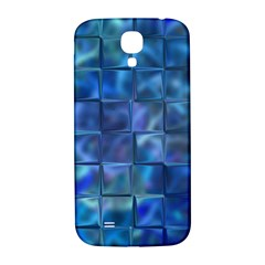 Blue Squares Tiles Samsung Galaxy S4 I9500/i9505  Hardshell Back Case by KirstenStar