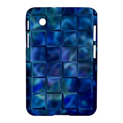 Blue Squares Tiles Samsung Galaxy Tab 2 (7 ) P3100 Hardshell Case  by KirstenStar