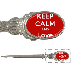 Keep Calm And Love Music 5739 Letter Opener by SuperFunHappyTime