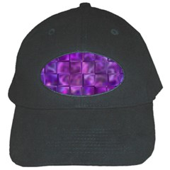 Purple Squares Black Baseball Cap by KirstenStar