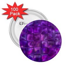 Purple Squares 2 25  Button (100 Pack) by KirstenStar