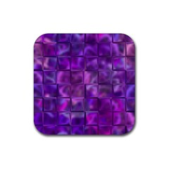 Purple Squares Drink Coaster (square) by KirstenStar