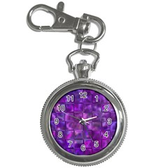 Purple Squares Key Chain Watch by KirstenStar
