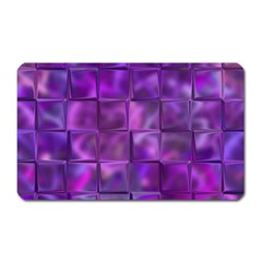 Purple Squares Magnet (rectangular) by KirstenStar
