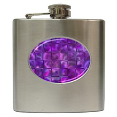 Purple Squares Hip Flask by KirstenStar