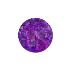 Purple Squares Golf Ball Marker 10 Pack by KirstenStar