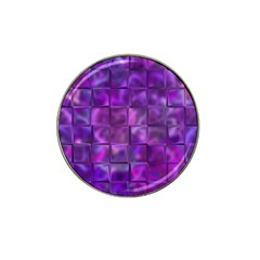Purple Squares Golf Ball Marker 4 Pack (for Hat Clip) by KirstenStar