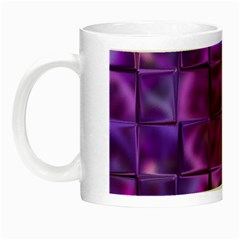 Purple Squares Glow In The Dark Mug by KirstenStar