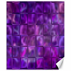 Purple Squares Canvas 20  X 24  (unframed) by KirstenStar