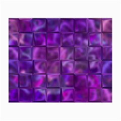 Purple Squares Glasses Cloth (small, Two Sided) by KirstenStar