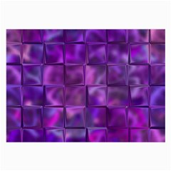 Purple Squares Glasses Cloth (large, Two Sided) by KirstenStar