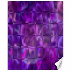 Purple Squares Canvas 11  X 14  (unframed) by KirstenStar