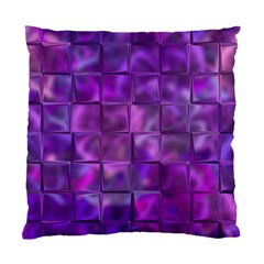 Purple Squares Cushion Case (single Sided)  by KirstenStar