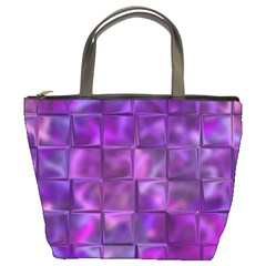 Purple Squares Bucket Handbag by KirstenStar
