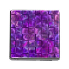 Purple Squares Memory Card Reader With Storage (square) by KirstenStar