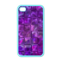 Purple Squares Apple Iphone 4 Case (color) by KirstenStar