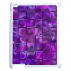 Purple Squares Apple Ipad 2 Case (white) by KirstenStar