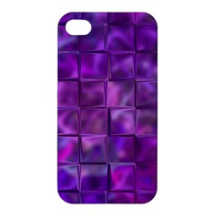 Purple Squares Apple Iphone 4/4s Hardshell Case by KirstenStar