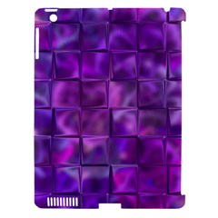 Purple Squares Apple Ipad 3/4 Hardshell Case (compatible With Smart Cover) by KirstenStar