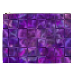 Purple Squares Cosmetic Bag (xxl) by KirstenStar