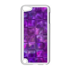 Purple Squares Apple Ipod Touch 5 Case (white) by KirstenStar