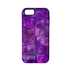 Purple Squares Apple Iphone 5 Classic Hardshell Case (pc+silicone) by KirstenStar