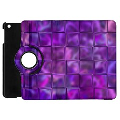 Purple Squares Apple Ipad Mini Flip 360 Case by KirstenStar