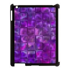 Purple Squares Apple Ipad 3/4 Case (black) by KirstenStar