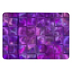 Purple Squares Samsung Galaxy Tab 8 9  P7300 Flip Case by KirstenStar