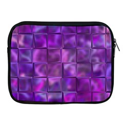 Purple Squares Apple Ipad Zippered Sleeve by KirstenStar