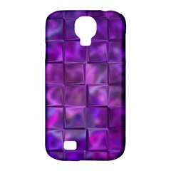 Purple Squares Samsung Galaxy S4 Classic Hardshell Case (pc+silicone) by KirstenStar