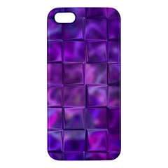 Purple Squares Iphone 5s Premium Hardshell Case by KirstenStar