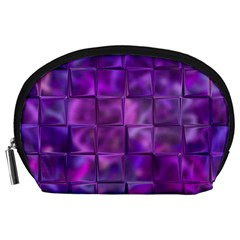 Purple Squares Accessory Pouch (large) by KirstenStar