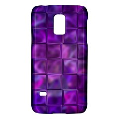Purple Squares Samsung Galaxy S5 Mini Hardshell Case  by KirstenStar