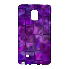 Purple Squares Samsung Galaxy Note Edge Hardshell Case by KirstenStar