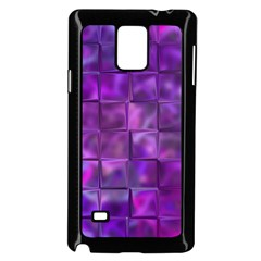 Purple Squares Samsung Galaxy Note 4 Case (black) by KirstenStar