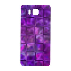 Purple Squares Samsung Galaxy Alpha Hardshell Back Case by KirstenStar