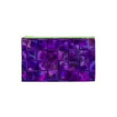 Purple Squares Cosmetic Bag (xs) by KirstenStar