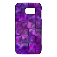 Purple Squares Samsung Galaxy S6 Hardshell Case  by KirstenStar
