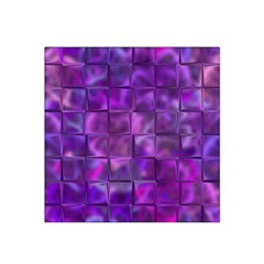 Purple Squares Satin Bandana Scarf by KirstenStar